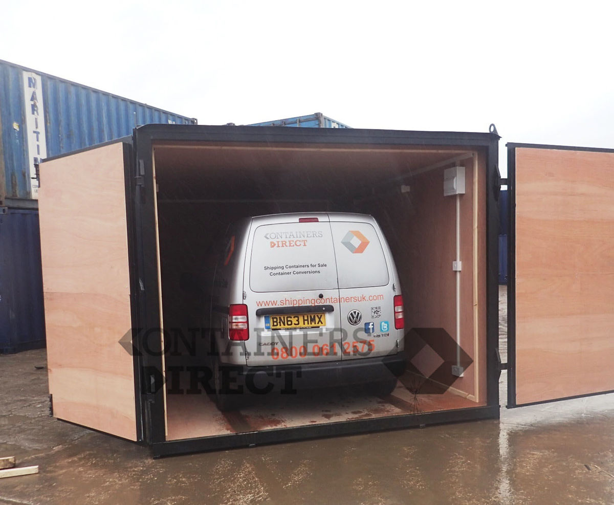 container conversion case studies garage unit 15ft x 10ft. Black Bedroom Furniture Sets. Home Design Ideas
