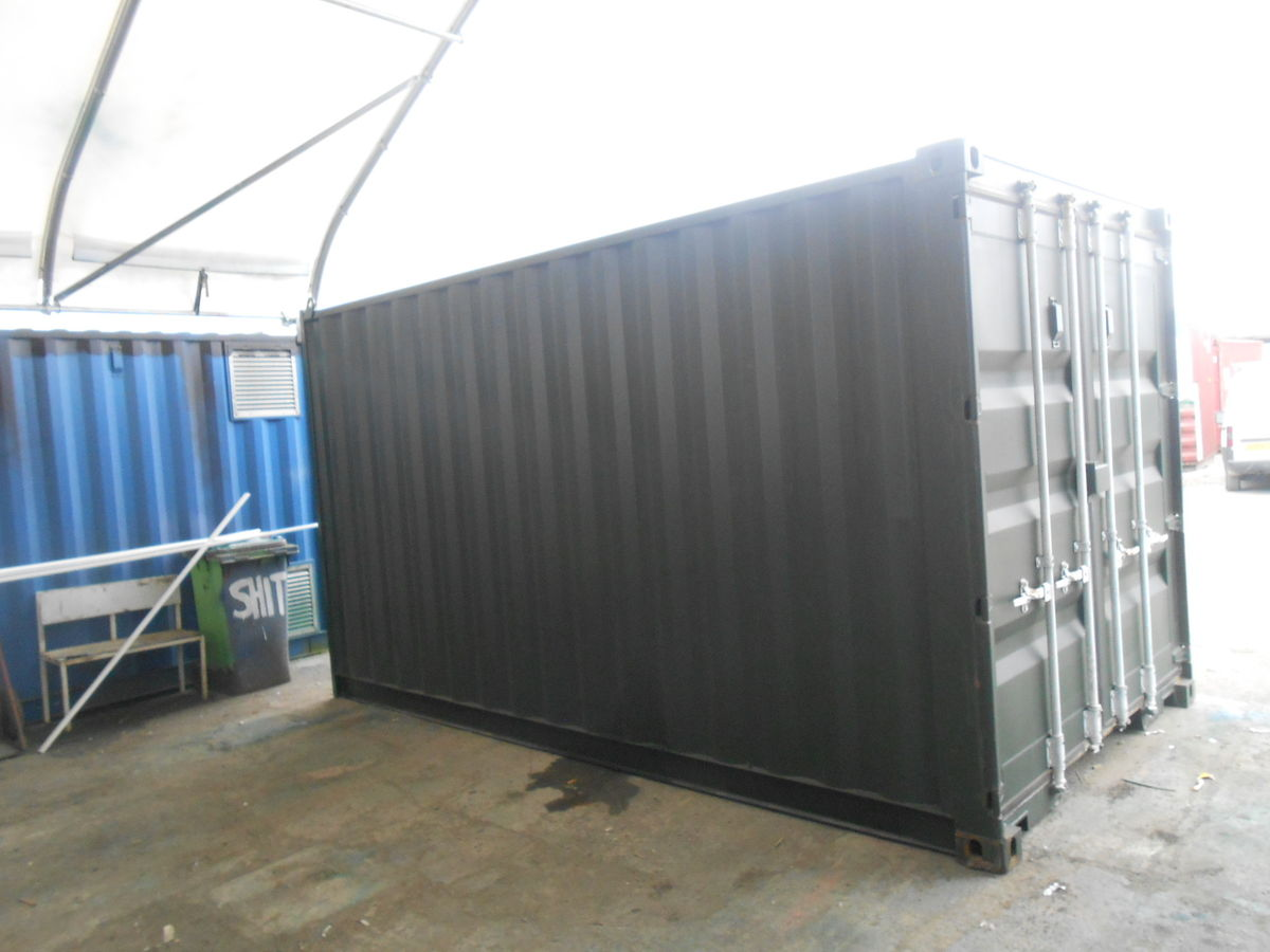 Shipping containers 15ft s2 doors 30917 for 30 foot shipping container