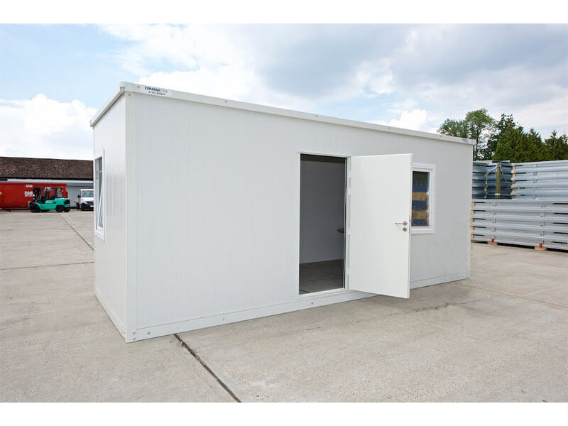 SELF ASSEMBLY SITE OFFICES 20ft FLAT PACK SITE OFFICE CONTAINER EXPCOM20 click to zoom image