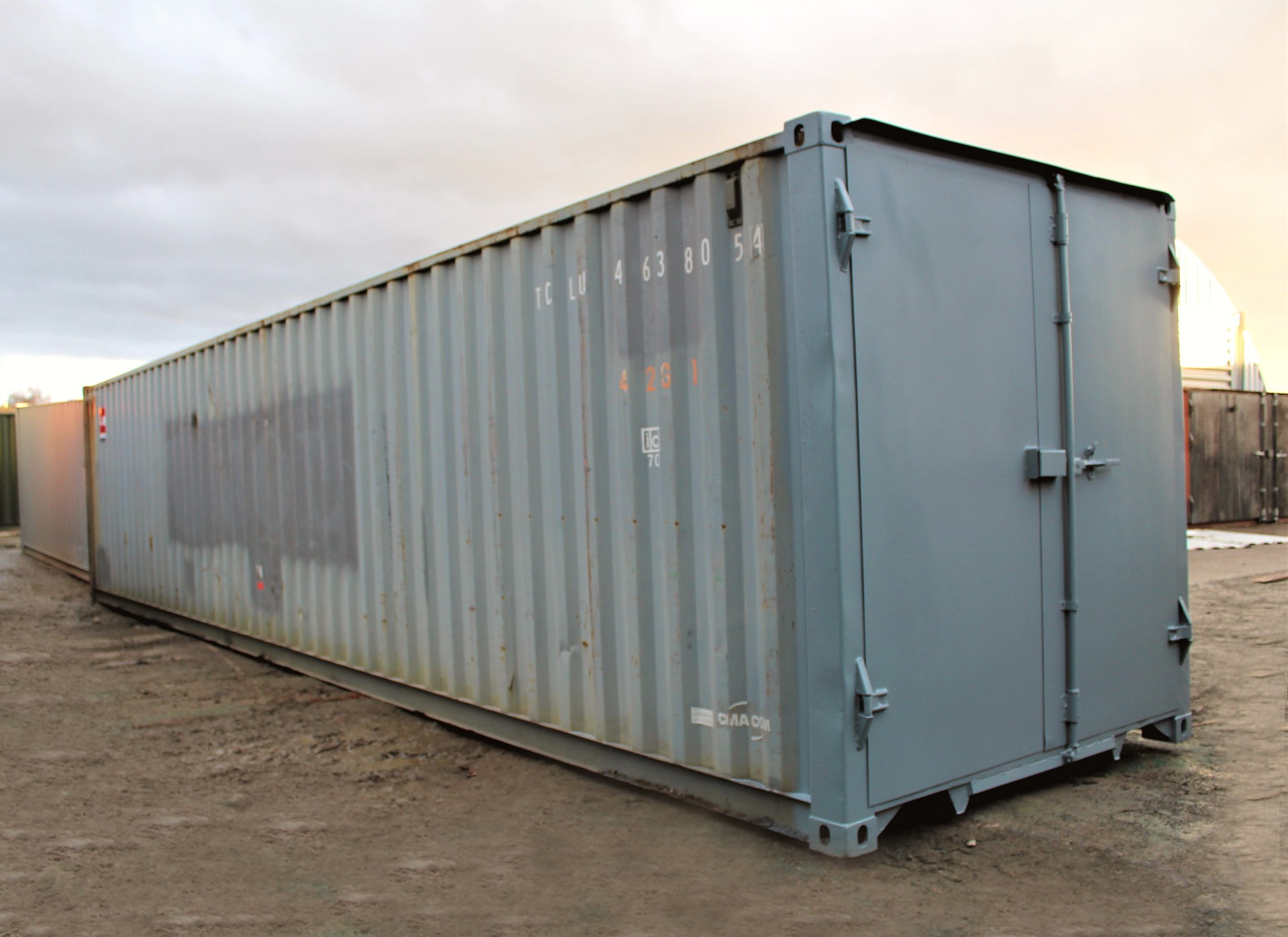 Used 40ft Shipping Containers 40ft ISO S1 doors   £2300.00 ...