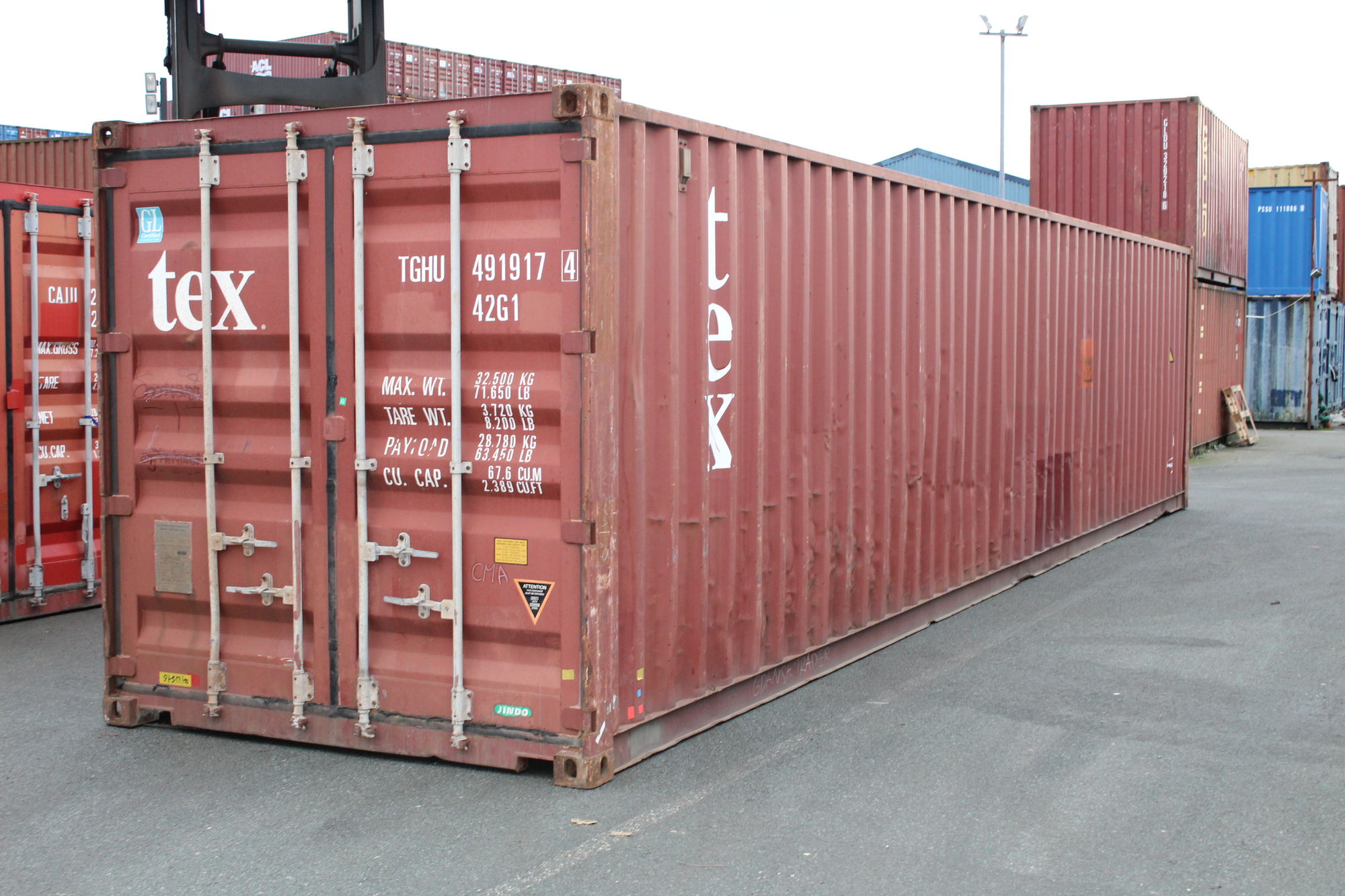 Used 40ft Shipping Containers For Sale 40ft S2 doors | £ ...