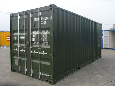 20ft New Shipping Containers 20ft Once Used S2- Original Doors
