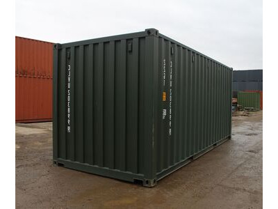 20ft New Shipping Containers 20ft Once-Used - S1 doors click to zoom image