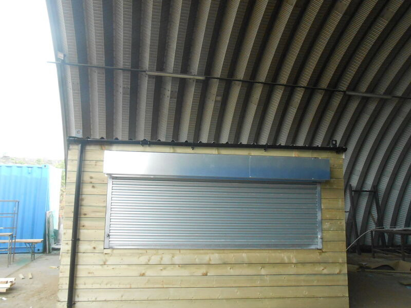 Shipping Container Conversions 13ft x 9ft tuck shop click to zoom image