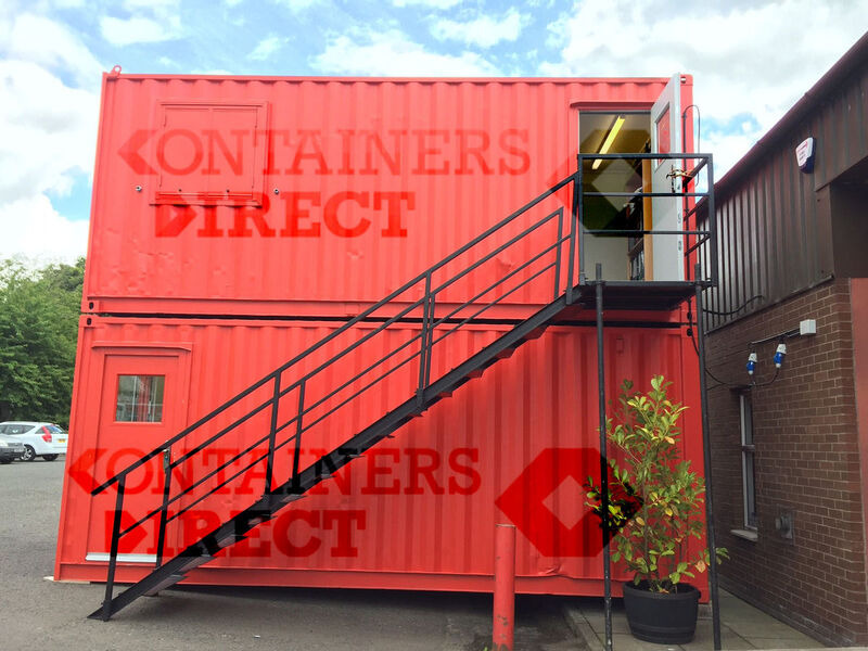 Shipping Container Conversions 2 x 20ft open plan offices click to zoom image