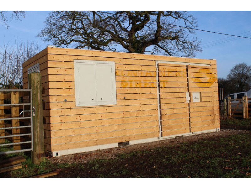 Shipping Container Conversions 20ft cladded workshop click to zoom image