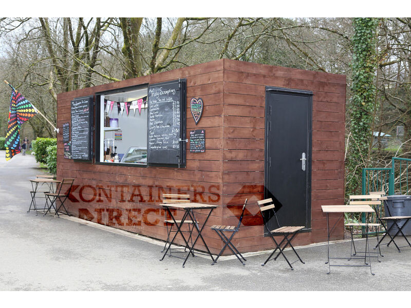 Container Conversions 20ft cladded rural cafe click to zoom image
