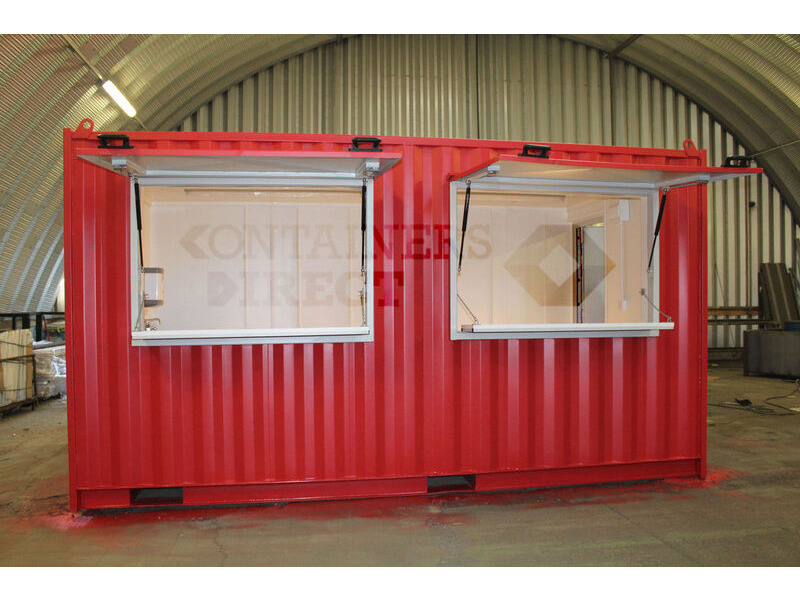 Container Conversions 15ft pop up cafe click to zoom image