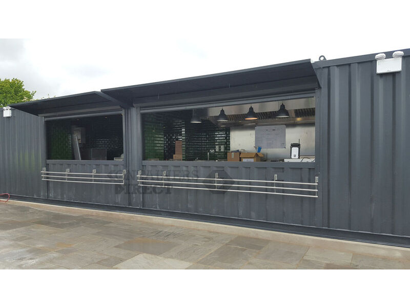 Shipping Container Conversions 40ft x 10ft kitchen and bar conversion click to zoom image