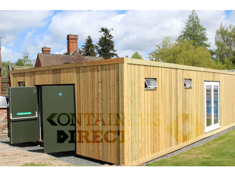 Shipping Container Conversions 20ft x 32ft swimming pool changing rooms click to zoom image