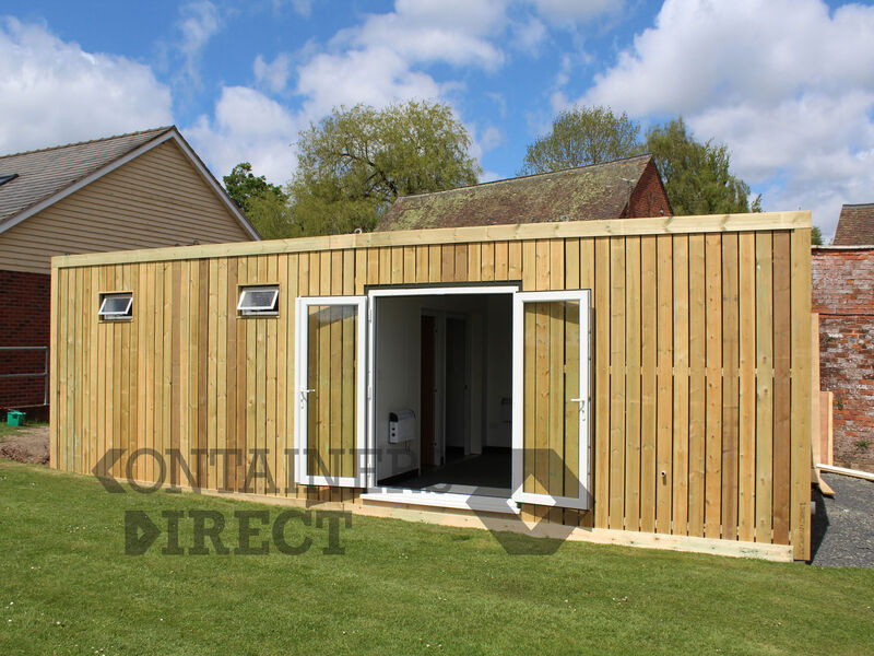 Shipping Container Conversions Swimming Pool Changing Rooms - 20ft x 32ft click to zoom image