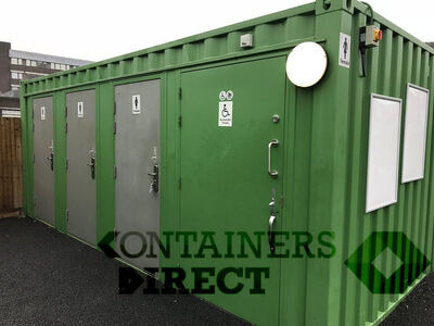 CONTAINER CONVERSIONS WC units with 4 toilet compartments