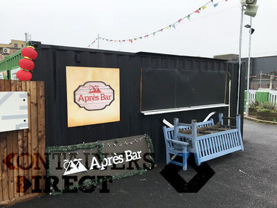 Shipping Container Conversions Pop up bar unit