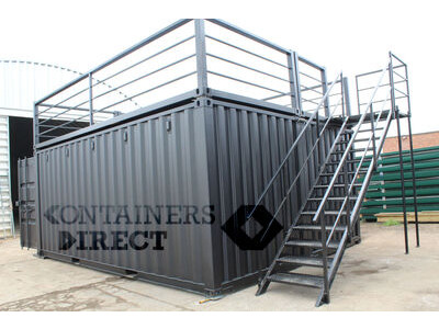 Shipping Container Conversions 20ft x 16ft pop up bar