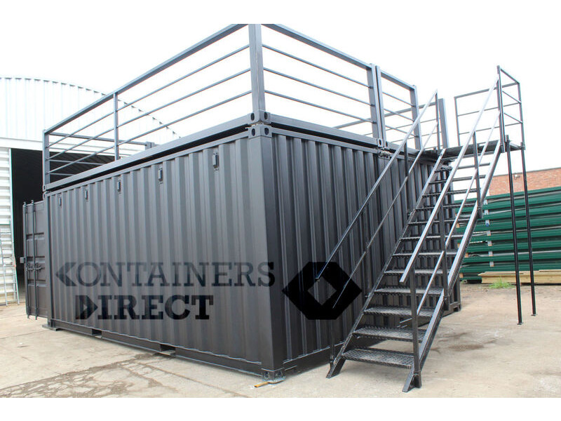 Shipping Container Conversions 20ft x 16ft pop up bar click to zoom image