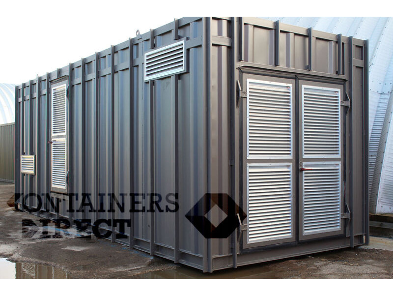 Shipping Container Conversions 24ft plant room click to zoom image