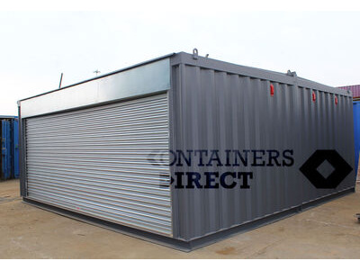 Shipping Container Conversions 20ft x 20ft garage unit