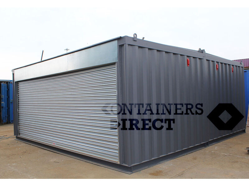 Shipping Container Conversions 20ft x 20ft garage unit click to zoom image