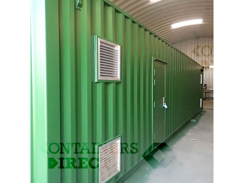 Container Conversions 40ft boiler house with side extension click to zoom image