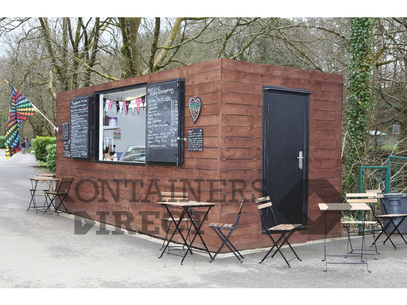 Shipping Container Conversions 20ft cladded rural cafe click to zoom image