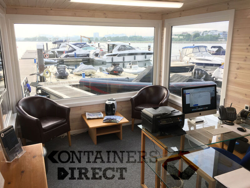 Shipping Container Conversions 35ft x 10ft marina office click to zoom image
