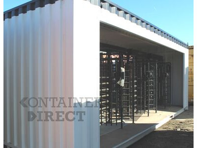 Shipping Container Conversions 24ft with turnstile controlled access