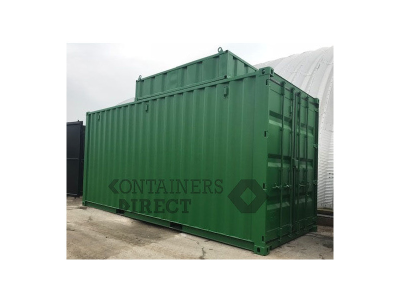Shipping Container Conversions 20ft boiler house with top box click to zoom image