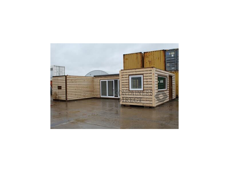 Shipping Container Conversions 3 x 20ft joined up store, workshop and kitchen click to zoom image