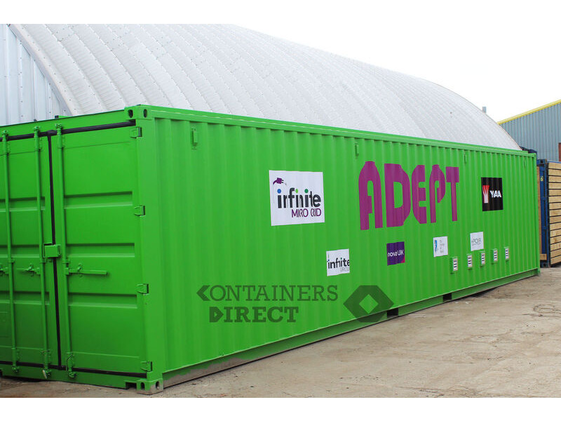 Shipping Container Conversions 40ft renewable energy equipment store click to zoom image
