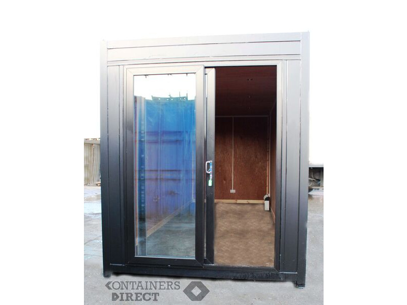 Shipping Container Conversions 20ft high cube with patio doors CS50064 click to zoom image