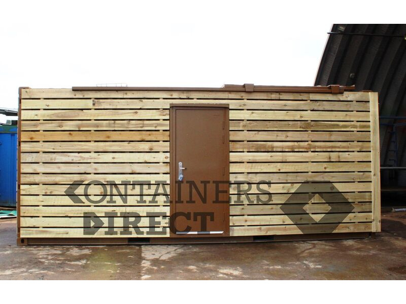 Shipping Container Conversions 20ft with sliding roof CS51597 click to zoom image