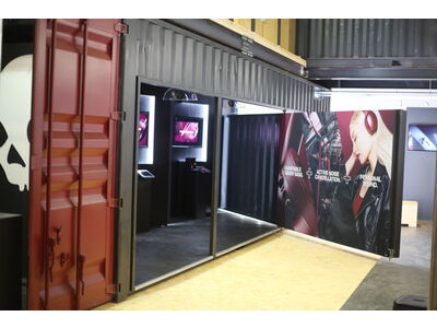 Shipping Container Conversions 2 x 30ft Skullcandy exhibition stand
