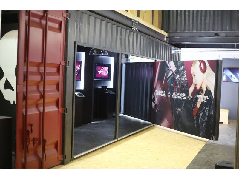 Shipping Container Conversions 2 x 30ft Skullcandy exhibition stand click to zoom image