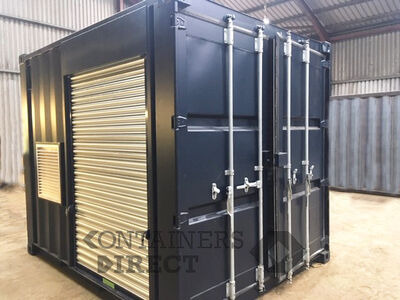 Shipping Container Conversions 10ft Falcon tunnel with roller shutters