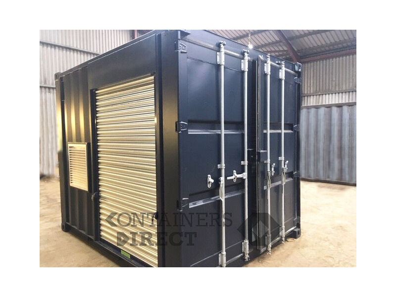 Container Conversions 20ft Falcon tunnel with roller shutters click to zoom image