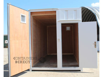 Shipping Container Conversions 15ft high cube with recessed personnel door