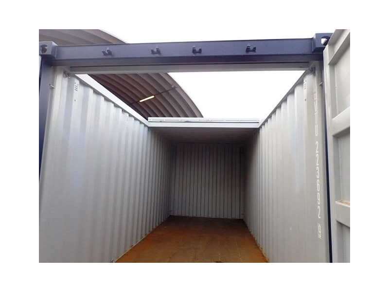 Shipping Container Conversions 30ft with sliding roof click to zoom image