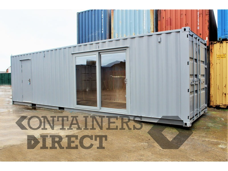 Shipping Container Conversions 30ft partitioned offices click to zoom image
