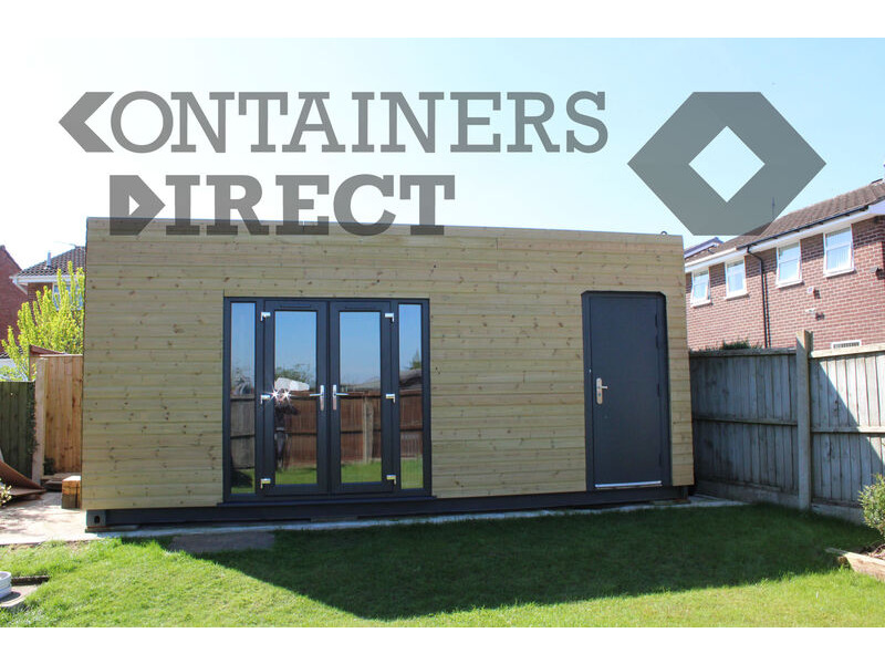 Shipping Container Conversions 20ft cladded garden room click to zoom image