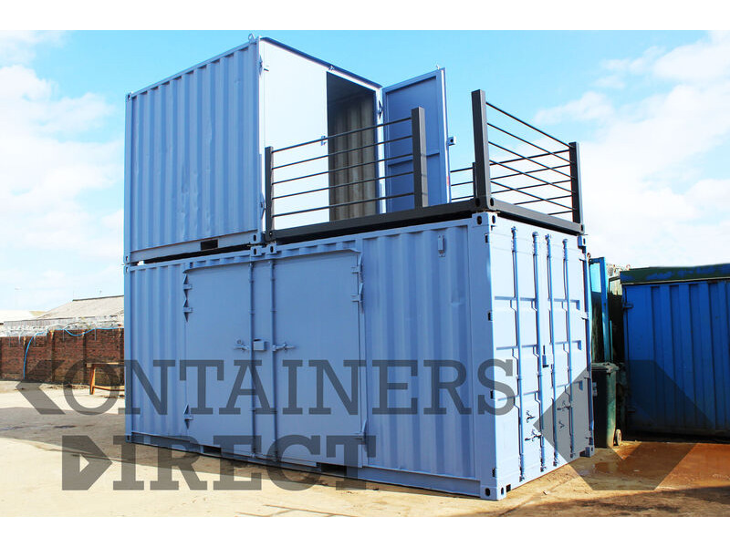 Shipping Container Conversions 20ft + 10ft stacked container testing facility click to zoom image