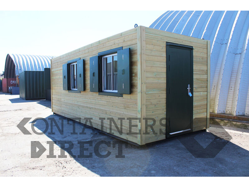 Shipping Container Conversions 20ft cladded gatehouse and visitor centre click to zoom image