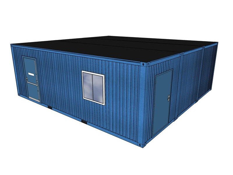 Shipping Container Conversions 24ft x 24ft BubbleBox classroom click to zoom image
