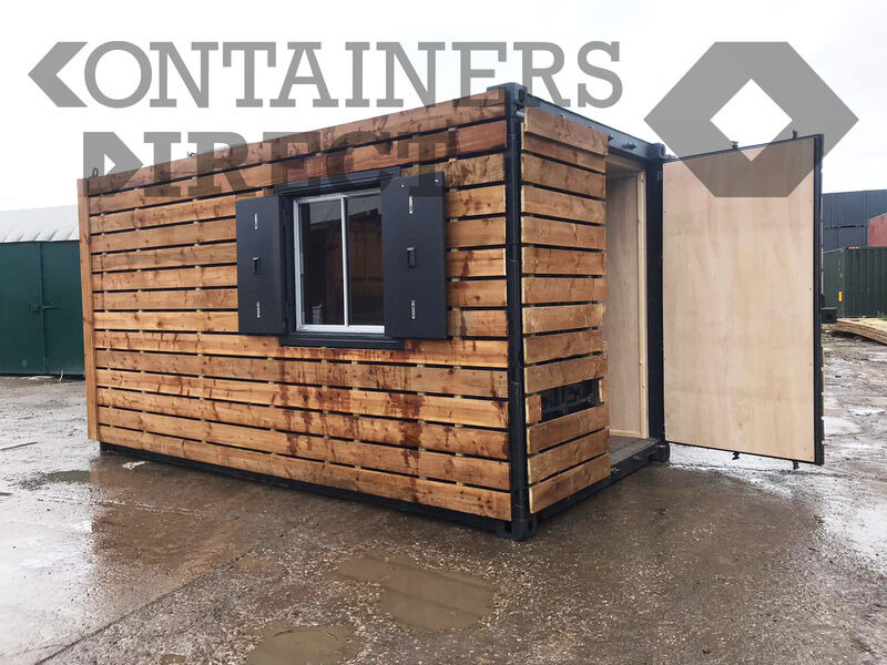 Shipping Container Conversions 15ft with ply lining click to zoom image