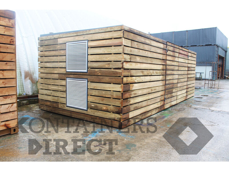 Shipping Container Conversions 25ft x 11ft generator room click to zoom image