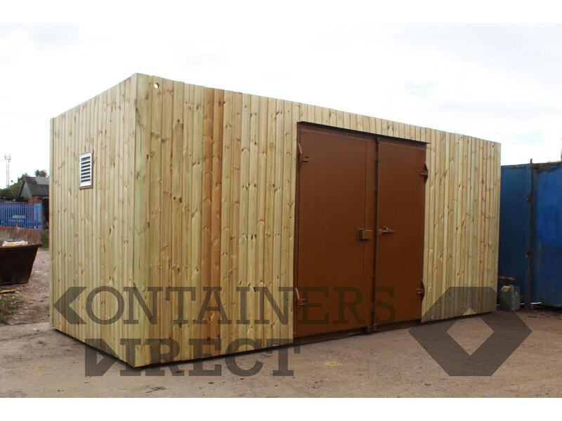 Shipping Container Conversions 20ft cladded allotment store click to zoom image