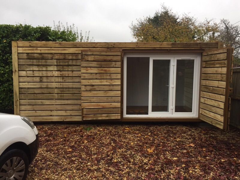 Shipping Container Conversions 20ft cladded garden office click to zoom image