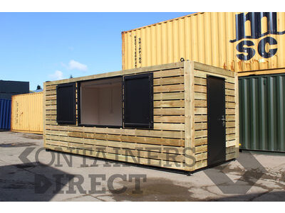 Shipping Container Conversions 20ft cladded school servery