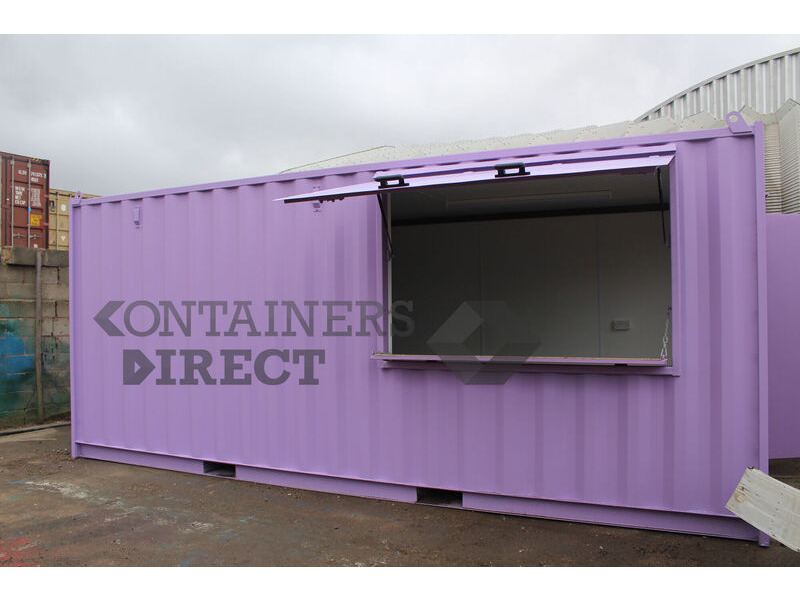 Shipping Container Conversions 20ft shutter hatch MenuBox click to zoom image