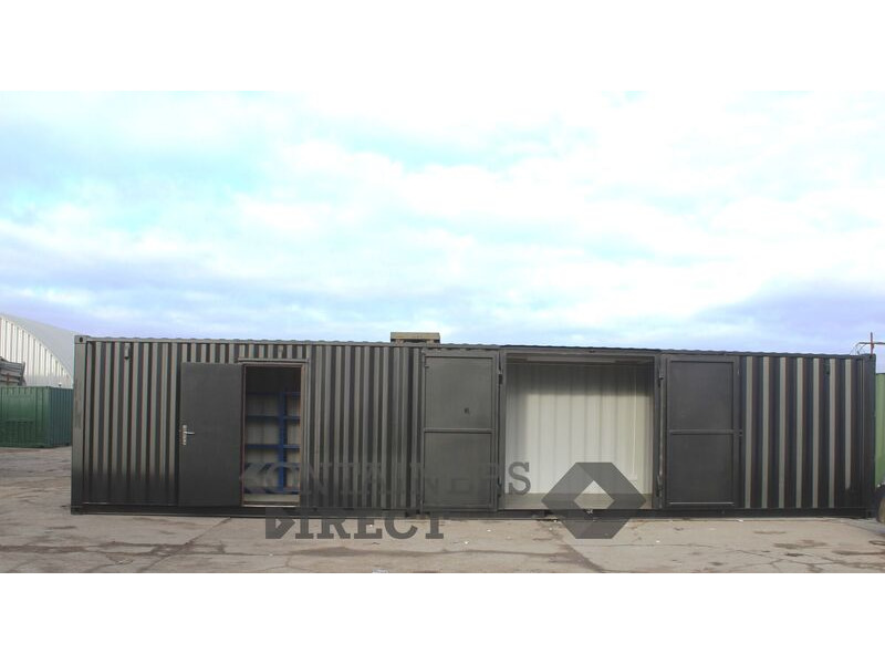 Shipping Container Conversions 40ft with side doors, electrics, shelving click to zoom image