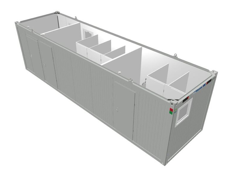 TOILET CABINS 30ft toilet cabin CTX30 with accessible cubicle click to zoom image